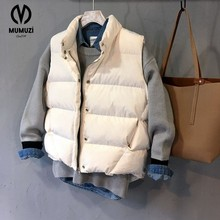 Autumn Winter Women Vest 2017 Cap Cotton Vest Femme Sleeveless Jacket Women Cardigan Waistcoat Size S