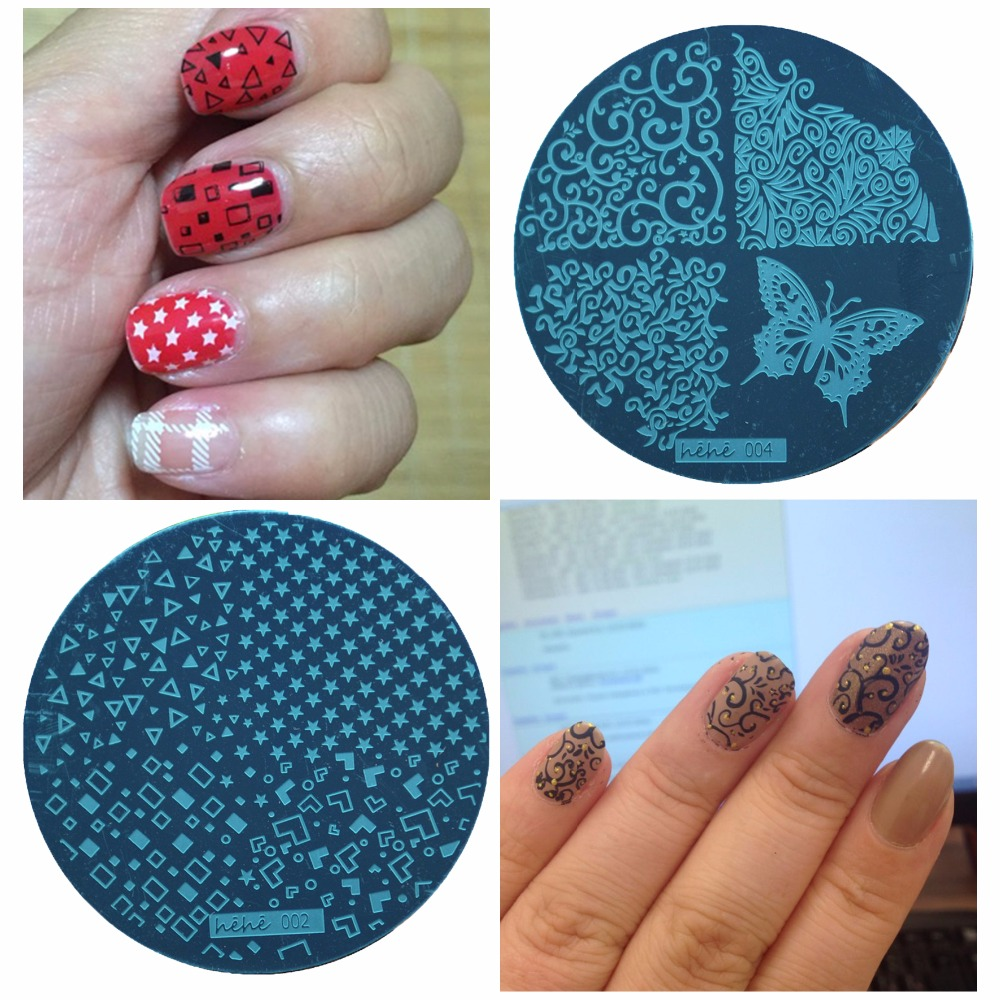 WUF 1 Pc Nails 5.5 Disc Template Nail Stamping Plates Polish Stencils For Stamp Nail Art