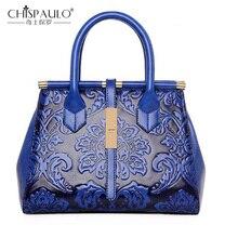 Новая модная женская сумка из тисненой кожи, качественная женская сумка, винтажная сумка через плечо, сумка в китайском стиле