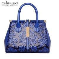 New Fashion Embossed Leather Brand Women Handbag Quality Women Bag Vintage Messenger Shoulder Bag Chinese Style Bag sac a main