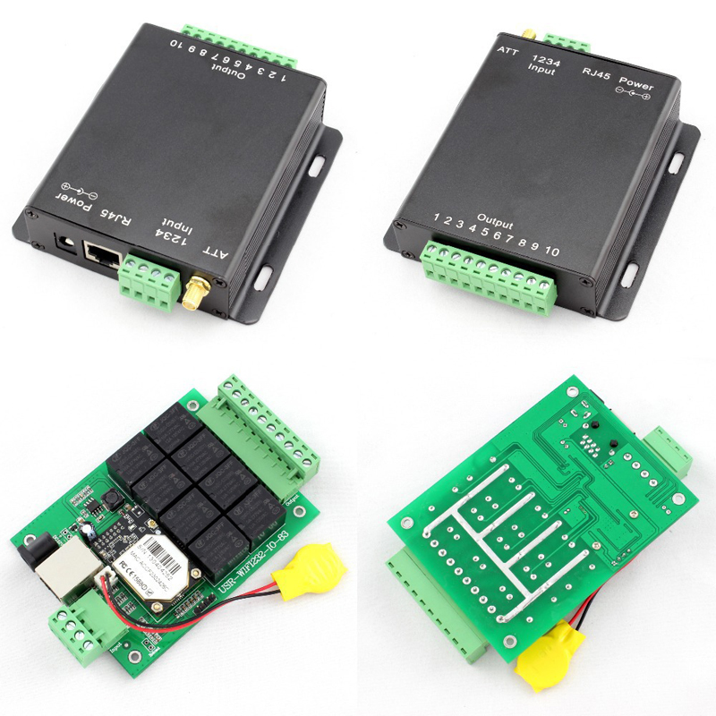 Free shipping 8 Channel WIFI Relay Control board with RJ45 port/WIFI relay board - free android /PCapp software USR-WIFIIO-83 usr r16 t 16 channel remote relay switch with tcp interface 16 channel q14028