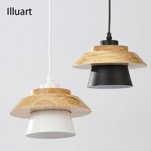 Pendant Lights Modern Bedroom Pendant lamps Home Light chandelier Ceiling Aluminum Wood Restaurant Coffee Bedroom Lighting E27