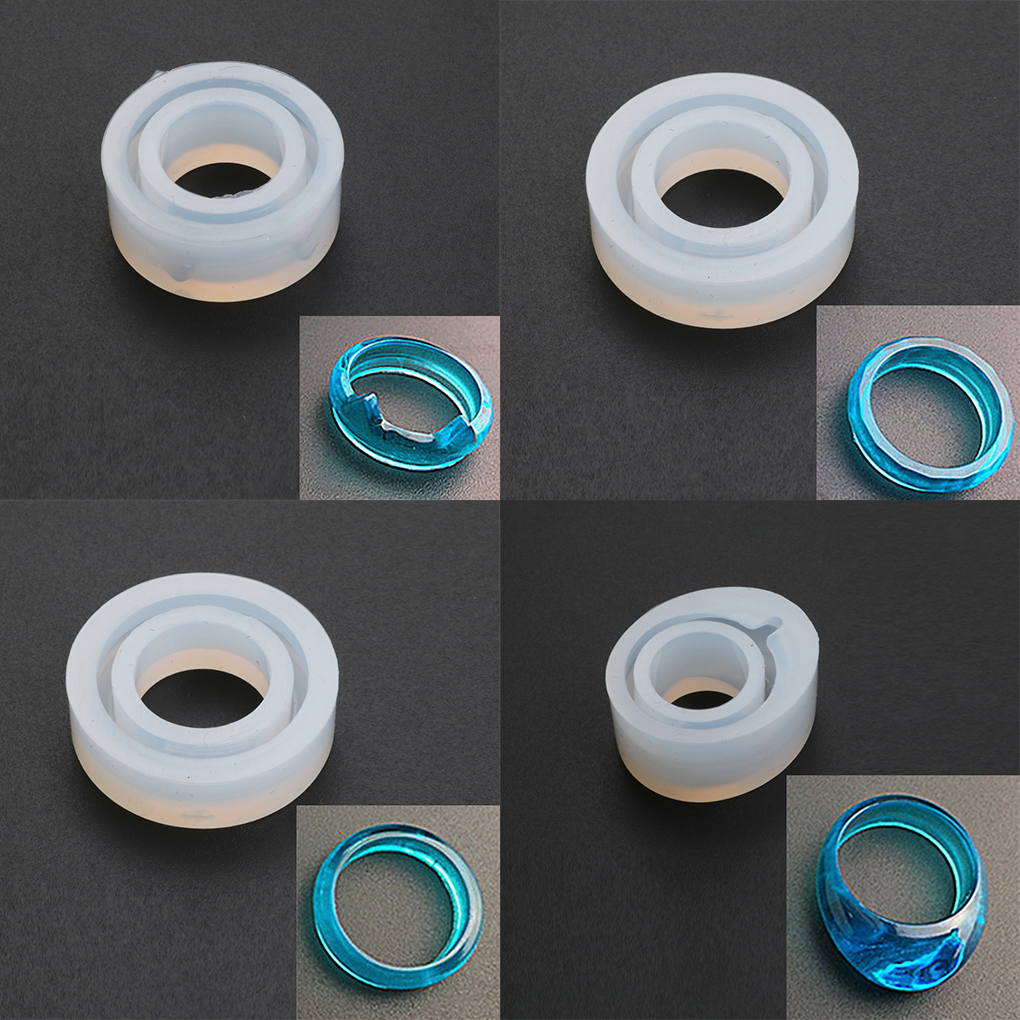 1 PC Silicone DIY Ring Mold Making Jewelry Rings Resin Casting Mould DIY Craft