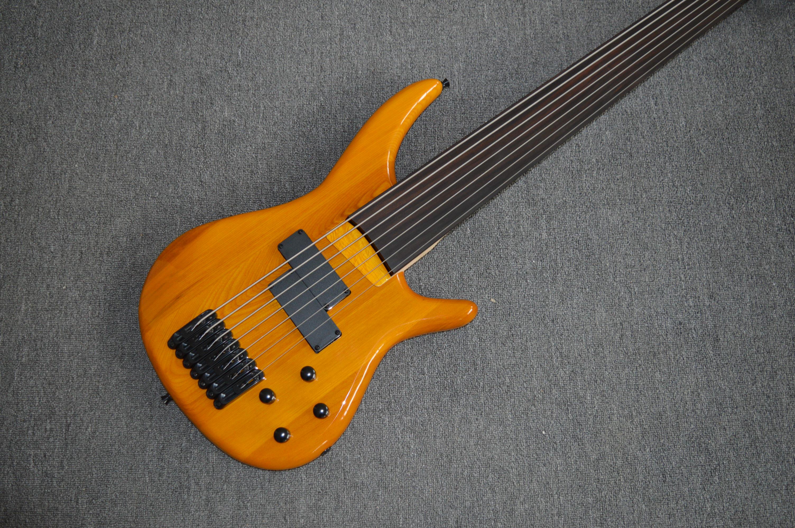 Livraison gratuite basse guitare basse électrique sans fretless 7 cordes guitare basse électrique