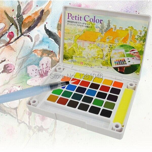 Sakura Talens Petit ensemble de croquis Portable aquarelle solide Transparent couleur Fine 30/24 couleurs Art Set fournitures de peinture