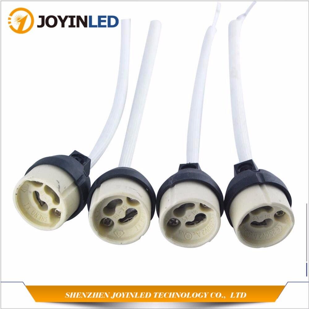 4PCS Socket Connector Adapter New GU10 Ceramic Halogen Lamp Holder Base Ceramic