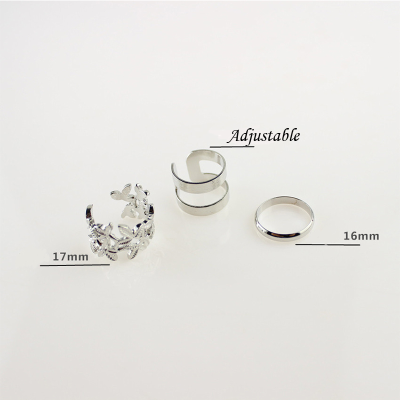 3 Types Of Rings 2015 New Fashion Rings For Women and Men Hollowed ...