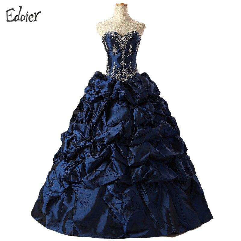 Cheap Blue Coral Quinceanera Dresses Sweetheart Ruffles Beaded Vestidos De 15 Anos Ball Gown Sweet 16 Dresses Debutante Gown