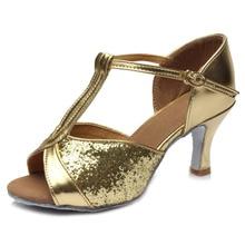 Hot Selling Women Girls Latin Dance Shoes Satin /Glitter Tango dance shoes Ballroom Dance Shoes High Heels 5 Colors