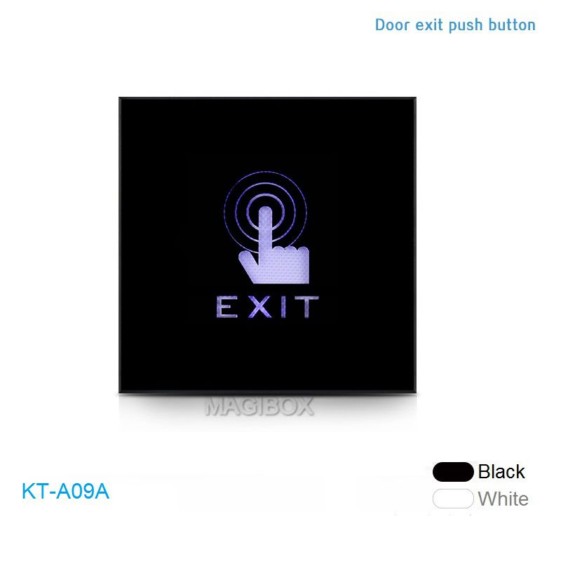 KT-A09A Door Touch Exit Button Infrared Induction Plexiglass Panel Dual LED Indicator Light for Door Access Control Exit Switch exit wound