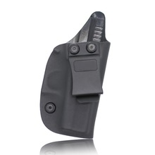 Black Glock Holster with kydex sheet for Glock 42 IWB Design Under Cover Inside the Waistband Kydex