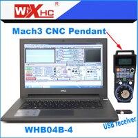 CNC milling machine used 4 Axis mach3 hand held usb pendant wireless MPG WHB04B 4