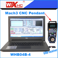 CNC Milling Machine Used 4 Axis Mach3 Hand Held Usb Pendant Wireless MPG WHB04B 4