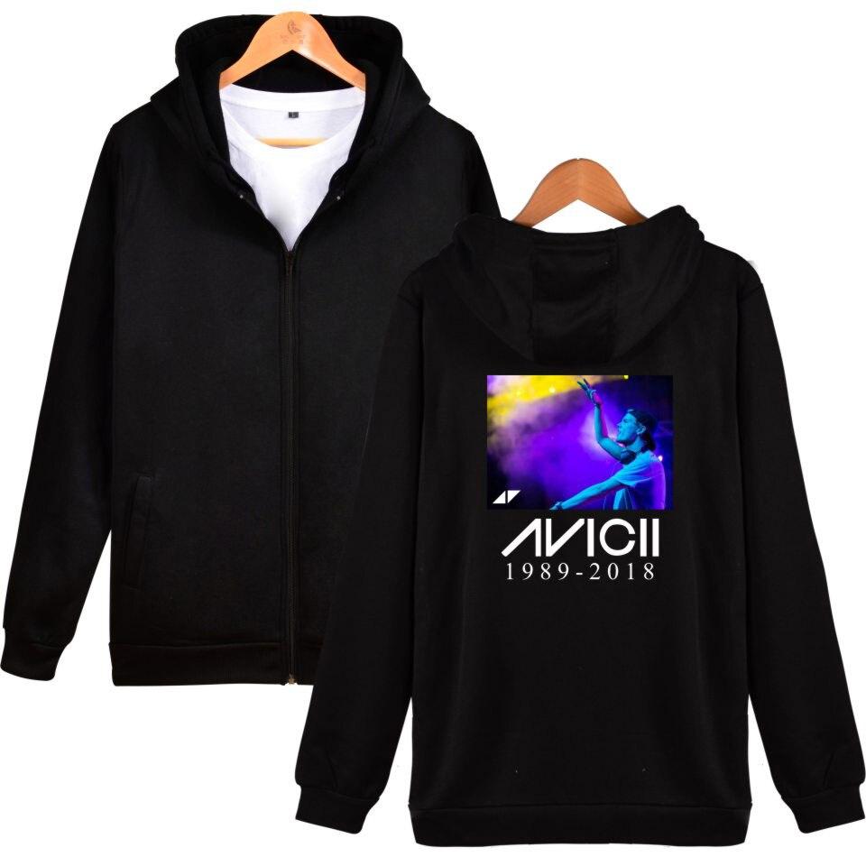 AVICII R.I.P. Hoodies Mens Print Casual Hooded hoodies Men/Women Zipper Harajuku Streetwear Tracksuit Hoodies AVICII Clothing