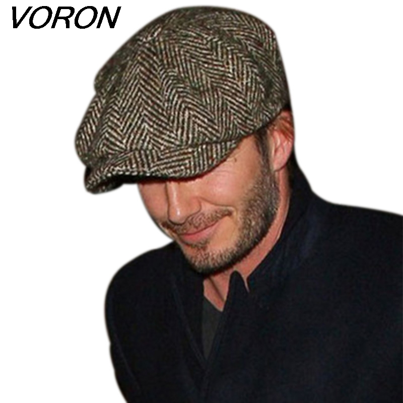 VORON Fashion Octagonal Cap Newsboy Beret Hat Autumn And Winter Hats For Men's International Superstar Jason Statham Male Models(China)