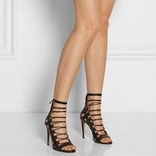Fashion Gladiator Style Women Sandals Fake Designer Shoes Women's Dress Shoes Women Work Heels Shoes Sapatos Femininos De Salto