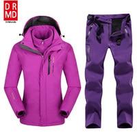 Plus Size Mountain Skiing Ski Wear Waterproof Hiking Outdoor Jacket Snowboard Jacket Ski Suit Women Large