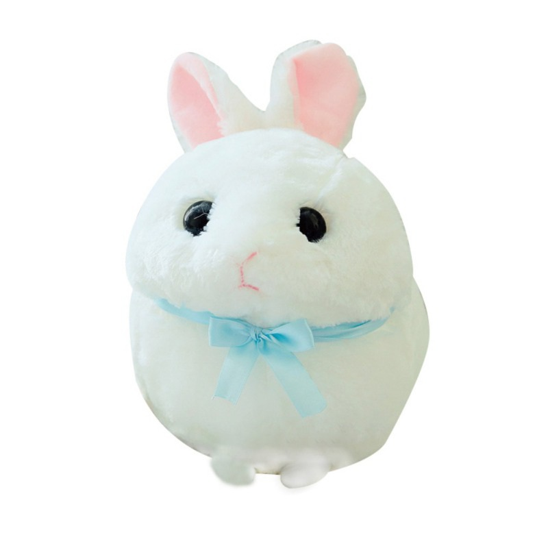 Hot Selling Cute Baby Toys Round Rabbit Plush Toy Cute Rabbit Chubby Doll Toy Having Two Colors Suitable For Kids to Play