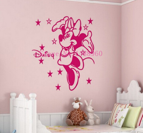 online kaufen großhandel minnie maus wand aus china minnie maus ... - Minnie Mouse Kinderzimmer Deko