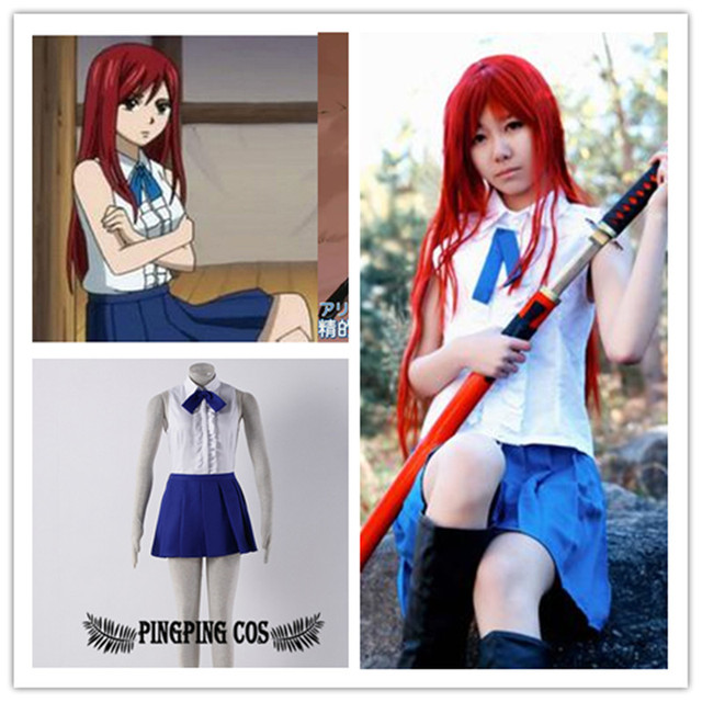 Us 42 26 Fairy Tail Cosplay Erza Cosplay Costumes Suit Girls School Uniforms Can Be Customized Any Size Free Shipping On Aliexpress Com Alibaba