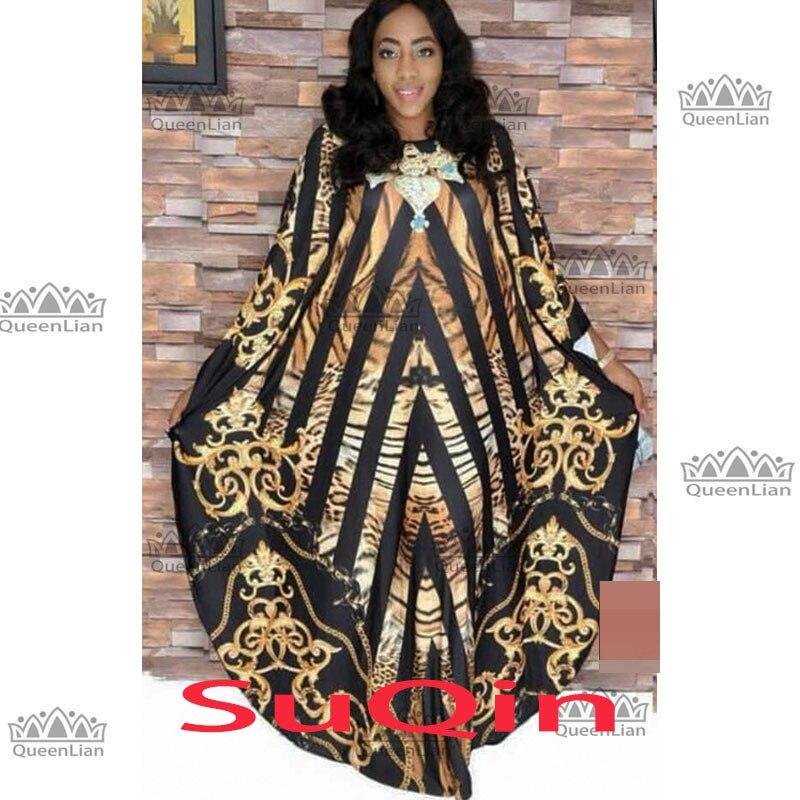 2019 African Slash Neck Dresses For Women Printing Dashiki Casual Dress Robe Femme  Indian Clothing Big Size BRW (XF04)