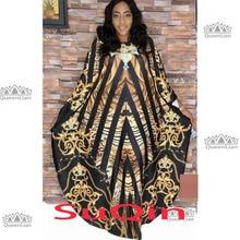 0c9f9e22b8 2019 africain Slash cou robes pour les femmes impression Dashiki tenue  décontractée Robe Femme indien vêtements grande taille BR.