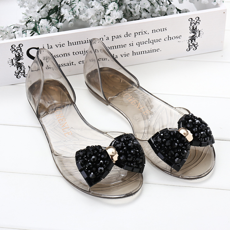 2019 Women Sandals New Transparent Jelly Shoes Summer Beach Sandals Fashion String Bead Ladies Sandals Comfort Ladies Slippers