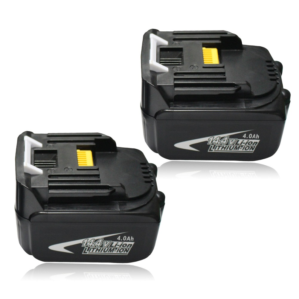 2PCS 14.4V 4.0Ah Lithium-Ion BL1430 Rechargeable Battery for Makita 4000mAh Cordless Tools BL1440 194558-0 194559-8