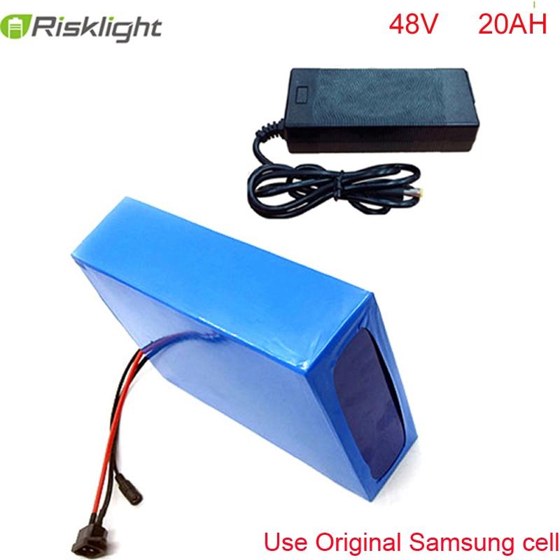 48v Samsung litija jonu akumulators 48V 20h elektriskais akumulators bafang e-velosipēdam 48v elektriskais velosipēdu akumulators 48v 20ah + BMS + lādētājs