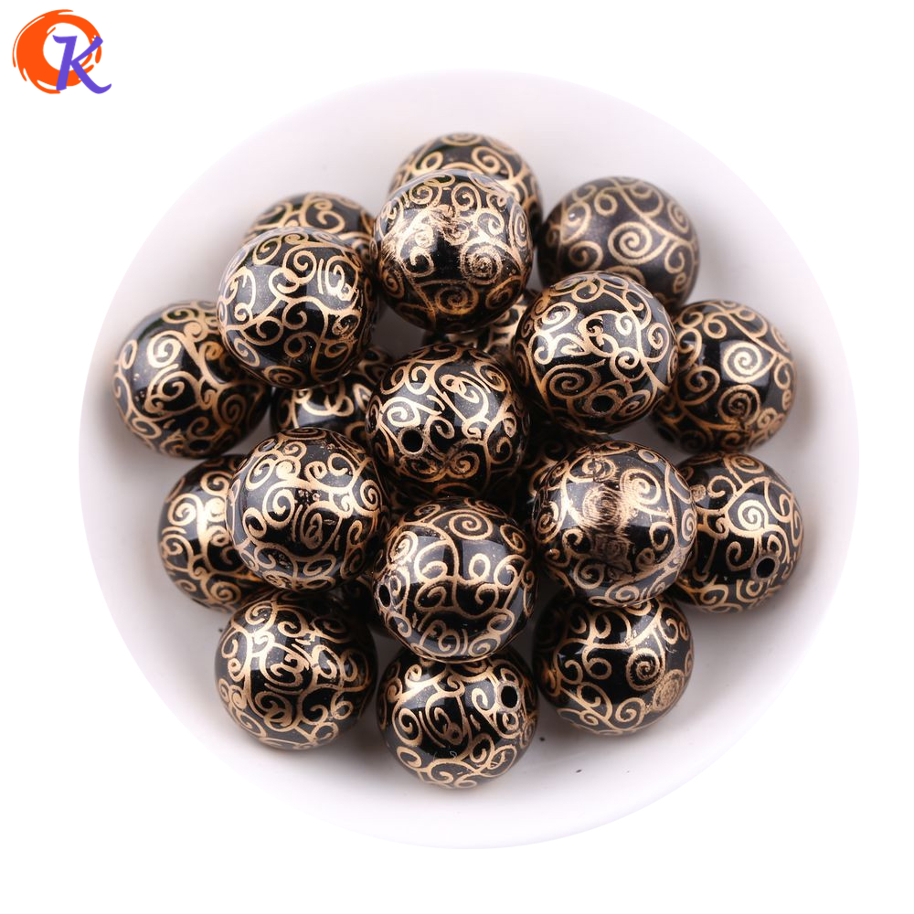 Cordial Design 20MM 100Pcs/Lot Shinny Cloud Printing On Black Color ABS Pearl Beads For Kids Chunky DIY Jewelry CDBD-601314