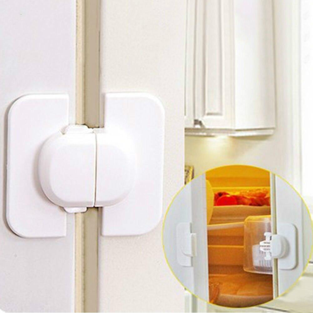 1Pcs Home Refrigerator Fridge Freezer Door Lock Latch Catch Toddler Kids Child Cabinet Locks Baby Safety Child Lock