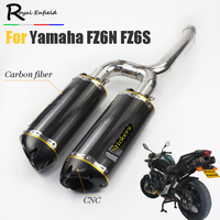 FZ6S FZ6N Motorcycle Exhaust Muffler pipe Mid Pipe Slip on For Yamaha FZ 6N FZ 6S FZ6 Motorcycle pipe exhaust Carbon fiber laser