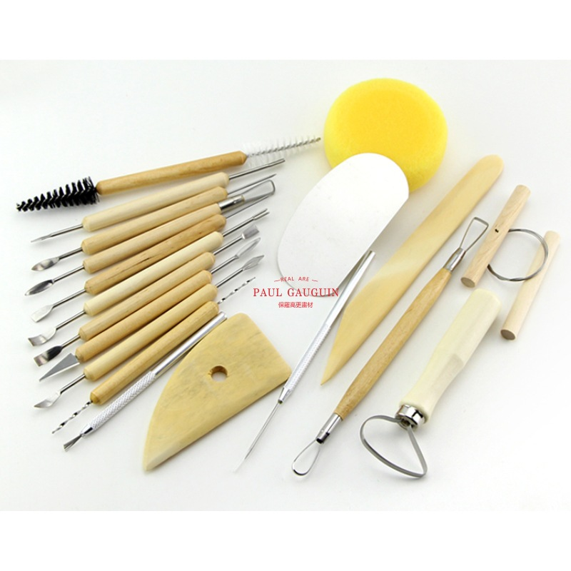 19PCS set different types of mud engraving knife tool mold auxiliary art supplies sculpture ceramic tools in Clay Molds from Home Garden
