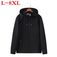 Plus Size 8XL 7XL 6XL 2018 New Spring Summer Mens Fashion Outerwear Windbreaker Men S Thin