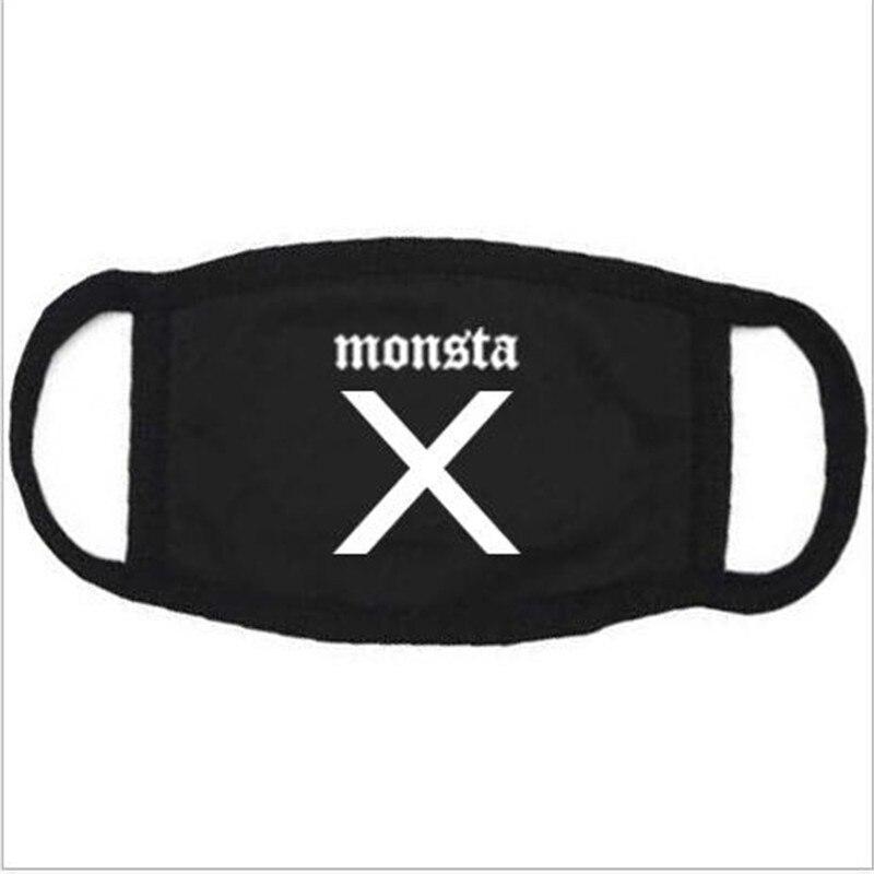 H029 Weniger Teuer Kpop Monster X Maske Für Frauen Männer Baumwolle Buchstaben Druck Weichen Maske