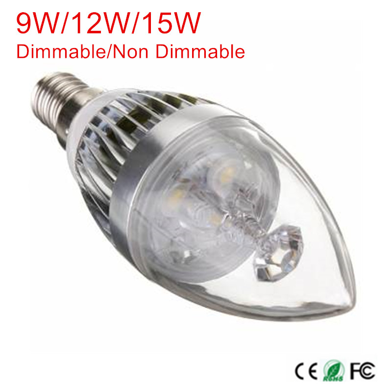 E14 9W/12W/15W AC85-265V Dimmable LED Bulb Lamp LED Candle Light Spotlight Warm/Natural/Cold White Indoor Light