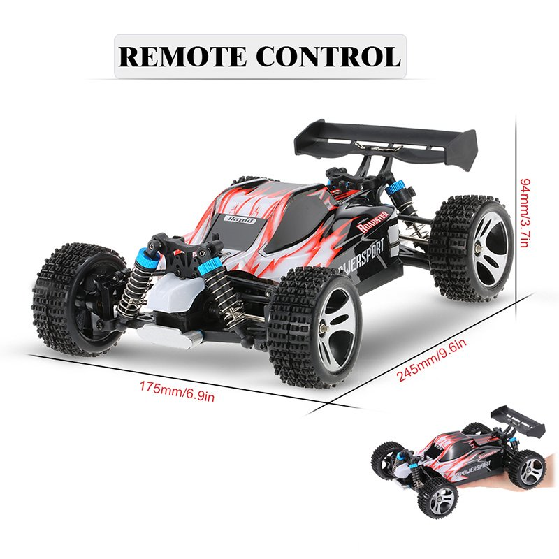 Updated Radio Control RC Car 1 18 4WD 70km h RC Buggy Off Road Rock Crawler Racing Car High Speed Toys Red Green in RC Cars from Toys Hobbies