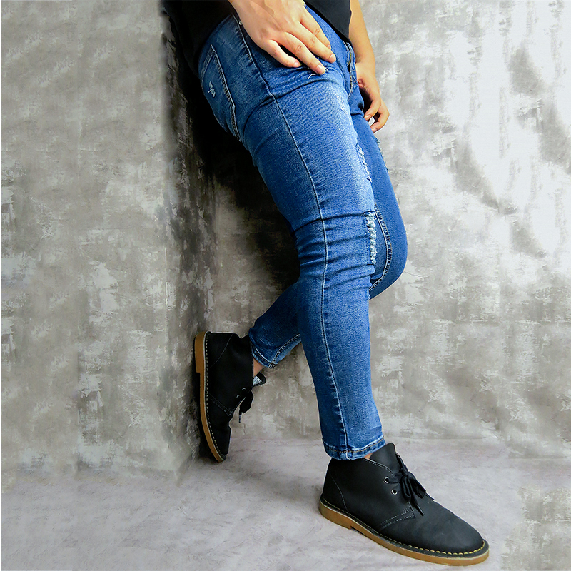 Men's jeans brand skinny jeans casual pants 2019 denim black jeans stretch pencil pants large size street wear