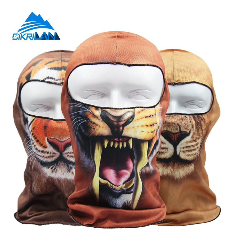 20 Animal Printing Styles Outdoor Sport Training Climbing Cycling Sun Protection Airsoft Mask Motorcycle Bicycle Fishing