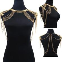 US $11.82 9% OFF Statement Necklace BodyChain Boho Jewelry Gold Color Necklace Body Shoulder Chain Multilayer Tassel Necklace For Women Collier-in Choker Necklaces from Jewelry & Accessories on Aliexpress.com   Alibaba Group