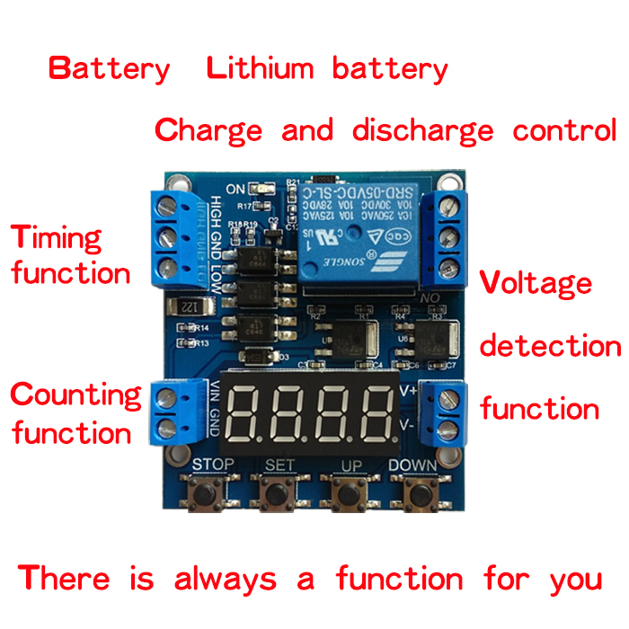 Electronic Components & Supplies Xy-j05 Delay Module Timer Delay Trigger Off Voltage Upper Lower Limit Detection Cyclic Timing Counting Battery Charge Control