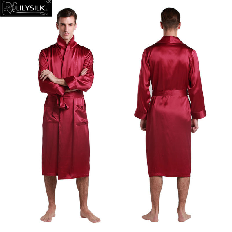 1000-claret-22-momme-lapel-collar-long-silk-dressing-gown