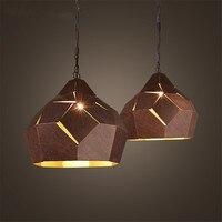 Ретро Промышленное освещение подвесной светильник, диаметр 40 см Loft Стиль металлический абажур подвесной светильник кафе/бар/Лофт/гостиная