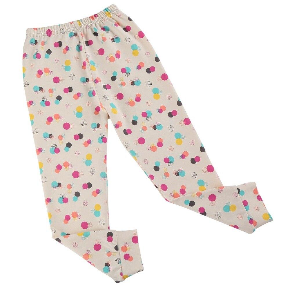 Girls Leggings Pencil-Pants Trousers-Print Kids Cotton Children New Dot Soft For Colorful