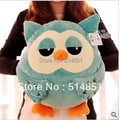 45cm Wholesale Winter cute owl plush toy multifunctional cartoon hand warmer hands warm pillow cushion  free shipping