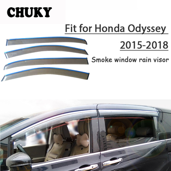 Chuky 4pcs ABS Car Styling Window Smoke Visors Awnings Shelters Rain Shield For Honda Odyssey 2015 2016 2017 2018 Accessories honda odyssey