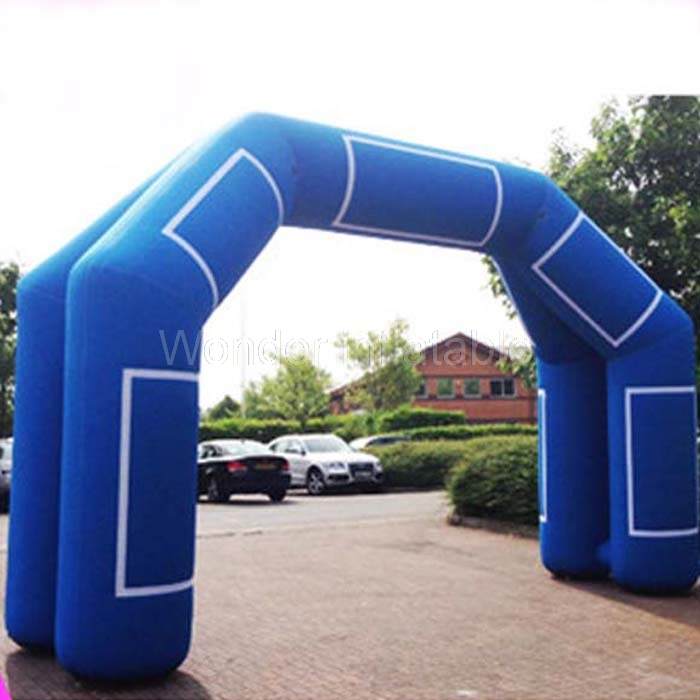 Индивидуальные 8 м синий открытый вход надувная реклама арки надувные козловой с vecro 4 ножки для продажи