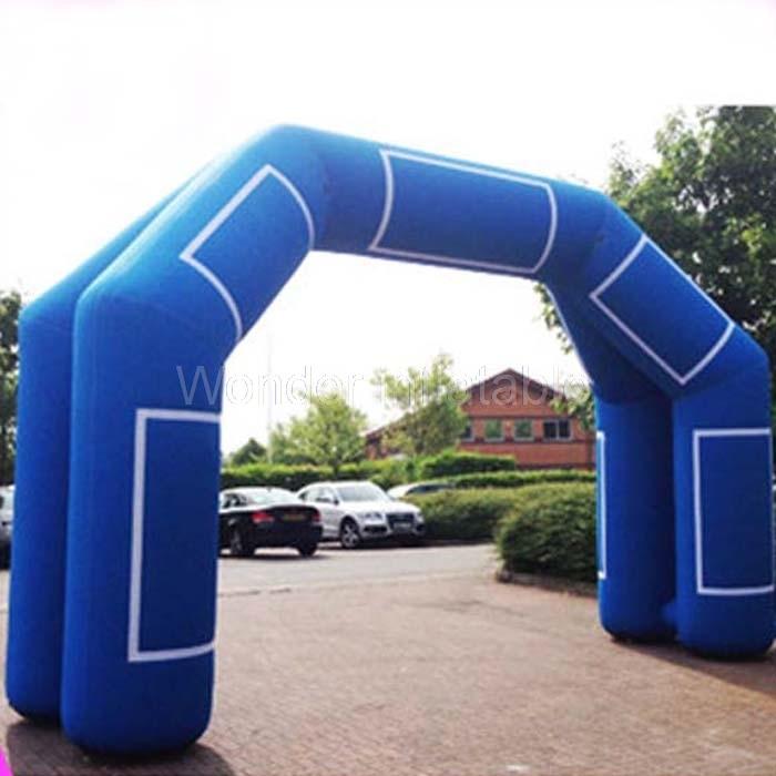 Testreszabott 8m-es kék kültéri bejárat felfújható reklám ív - Ünnepi és party kellékek