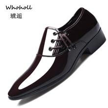 цены на Dress Shoes Men Oxford Patent Leather Men's Dress Shoes Business Shoes Men Oxford Leather Zapatos De Hombre De Vestir Formal 48  в интернет-магазинах