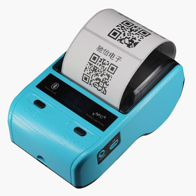 Przenośny Mini 80mm Bluetooth 2.0 z systemem Android terminal POS drukarka termiczna Bill drukarki etykiet maszyny do supermarketu restauracja